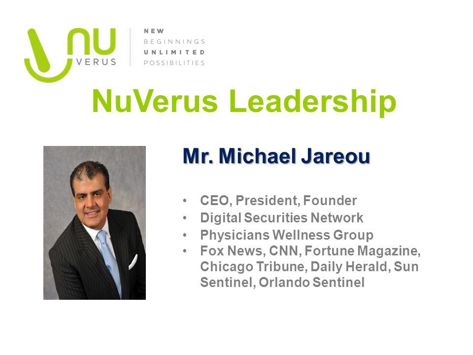 Mr. Michael Jareou CEO, President, Founder Digital Securities Network Physicians Wellness Group Fox News, CNN, Fortune Magazine, Chicago Tribune, Dail