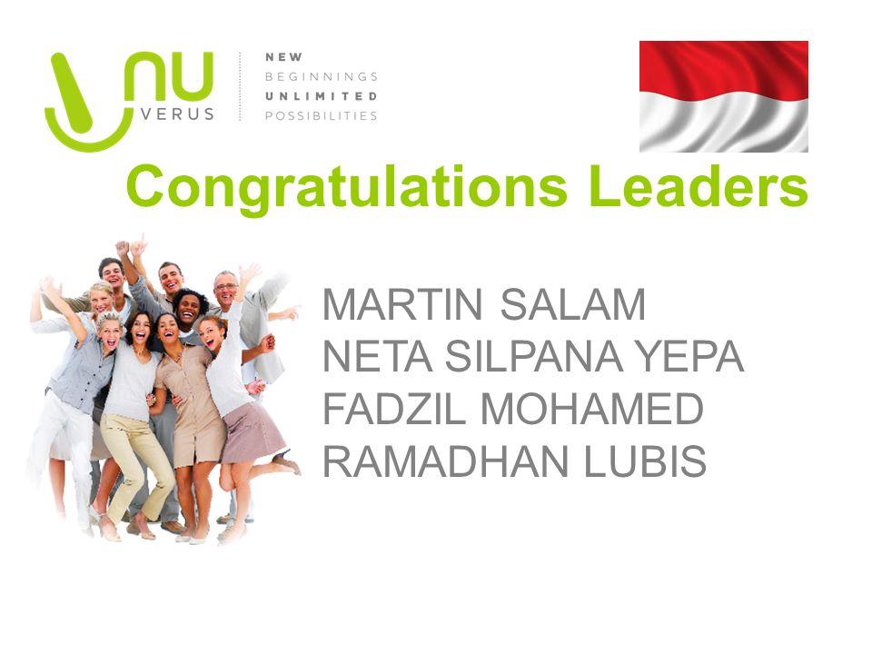 MARTIN SALAM NETA SILPANA YEPA FADZIL MOHAMED RAMADHAN LUBIS Congratulations Leaders