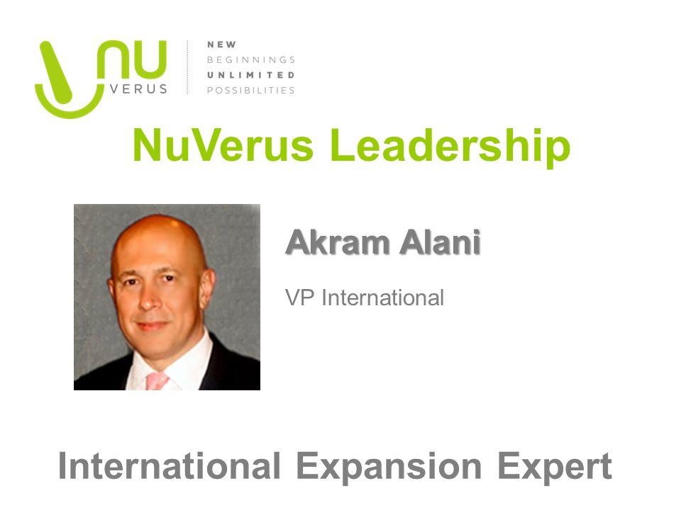 Akram Alani Akram Alani VP International NuVerus Leadership International Expansion Expert