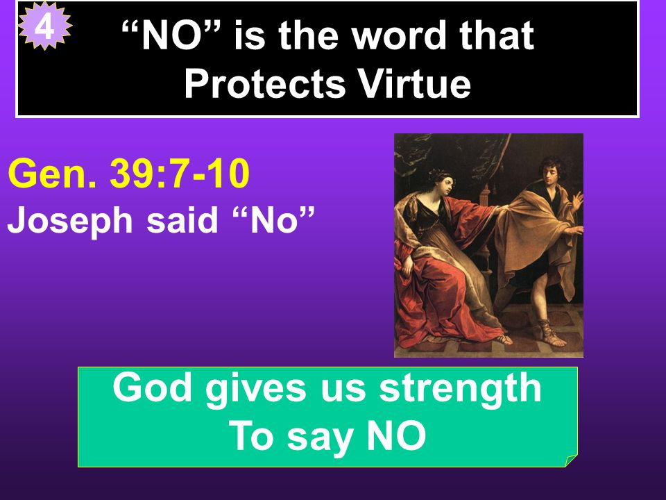 NO is the word that Protects Virtue Gen.