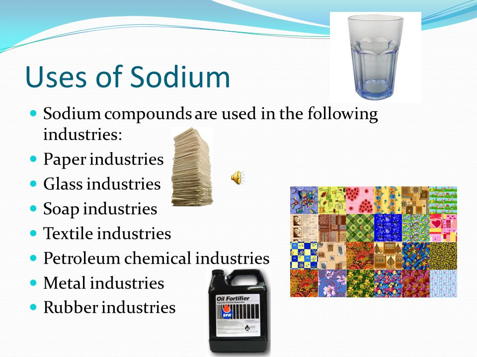 More Sodium Facts Sodium is in the s-block in the periodic table.