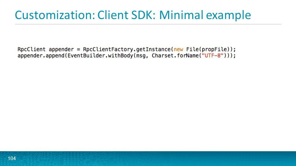 Customization: Client SDK: Minimal example 104