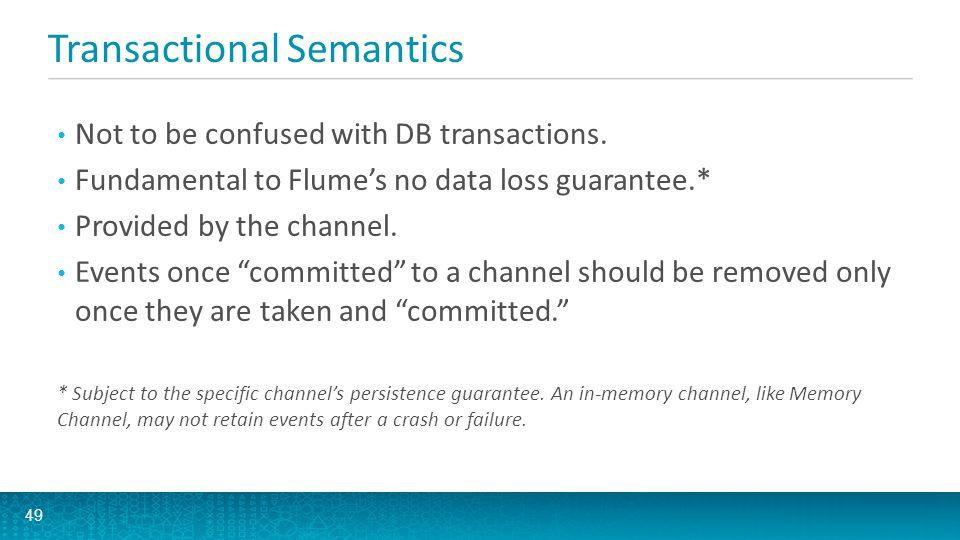 Transactional Semantics 50