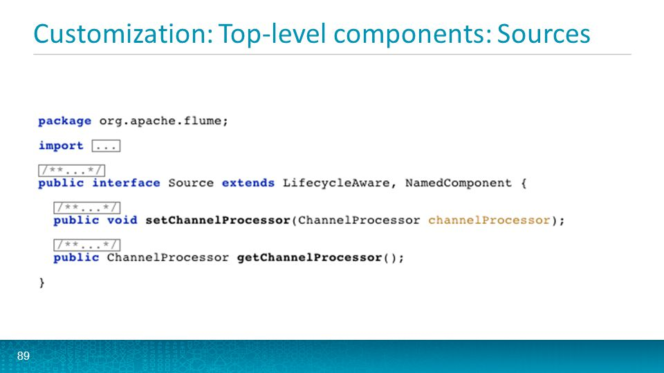 Customization: Top-level components: Sources 89