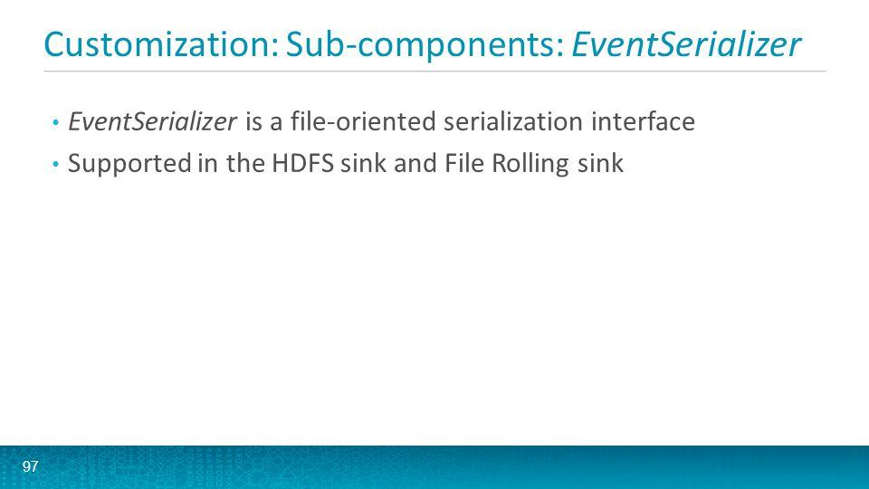 Customization: Sub-components: EventSerializer 98