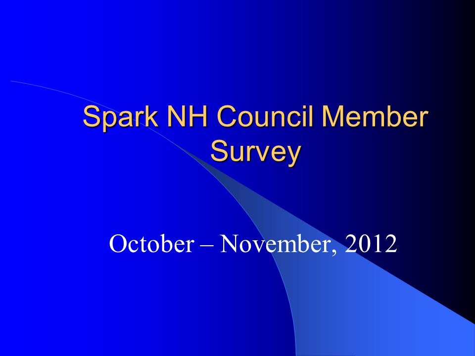 What, if any, changes/impacts have you seen happen as a result of Spark NH to date.