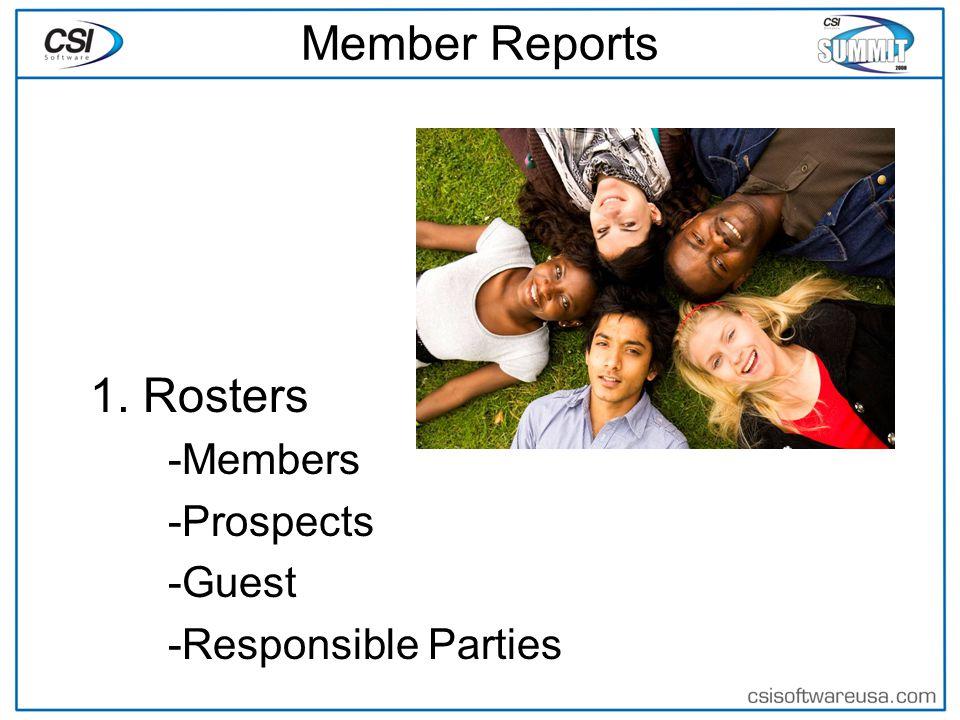 Member Reports 2.