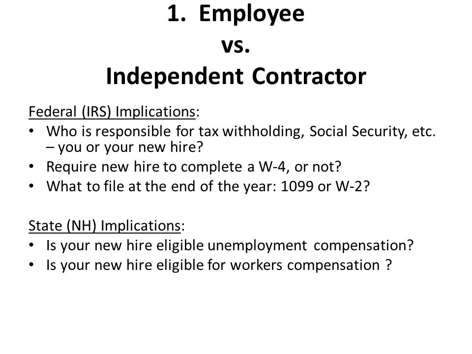 1. Employee vs.