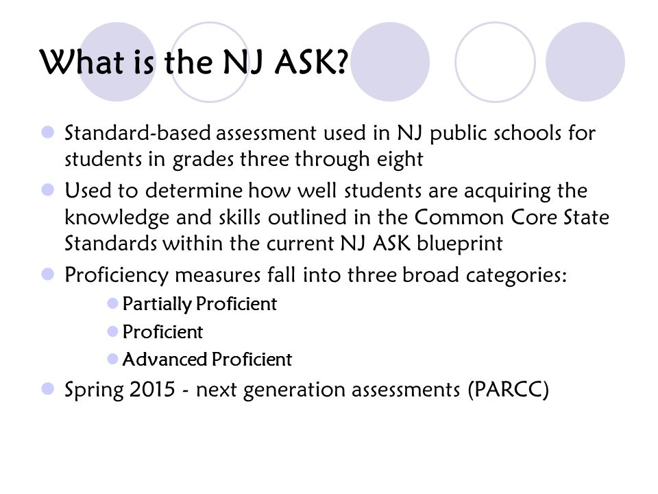 When is the NJ ASK administered.