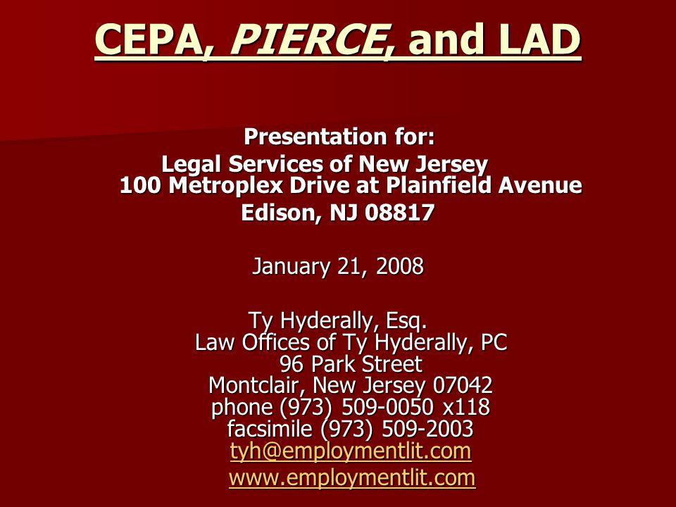 CEPA vs.PIERCE – A COMPARISON 1.