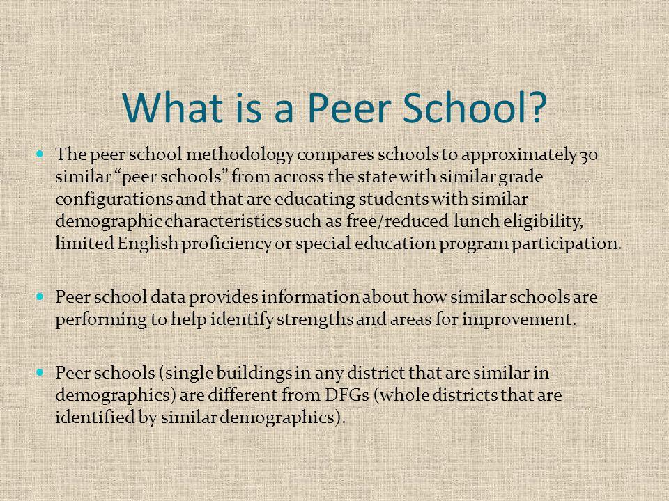 What is a Peer School.