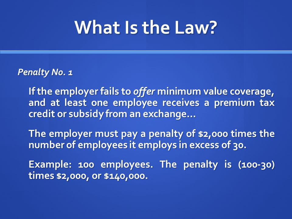 What Is the Law. Penalty No.