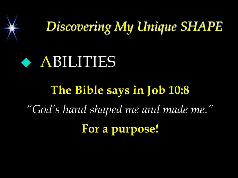 Understanding your ABILITIES: Using your Abilities: 3.