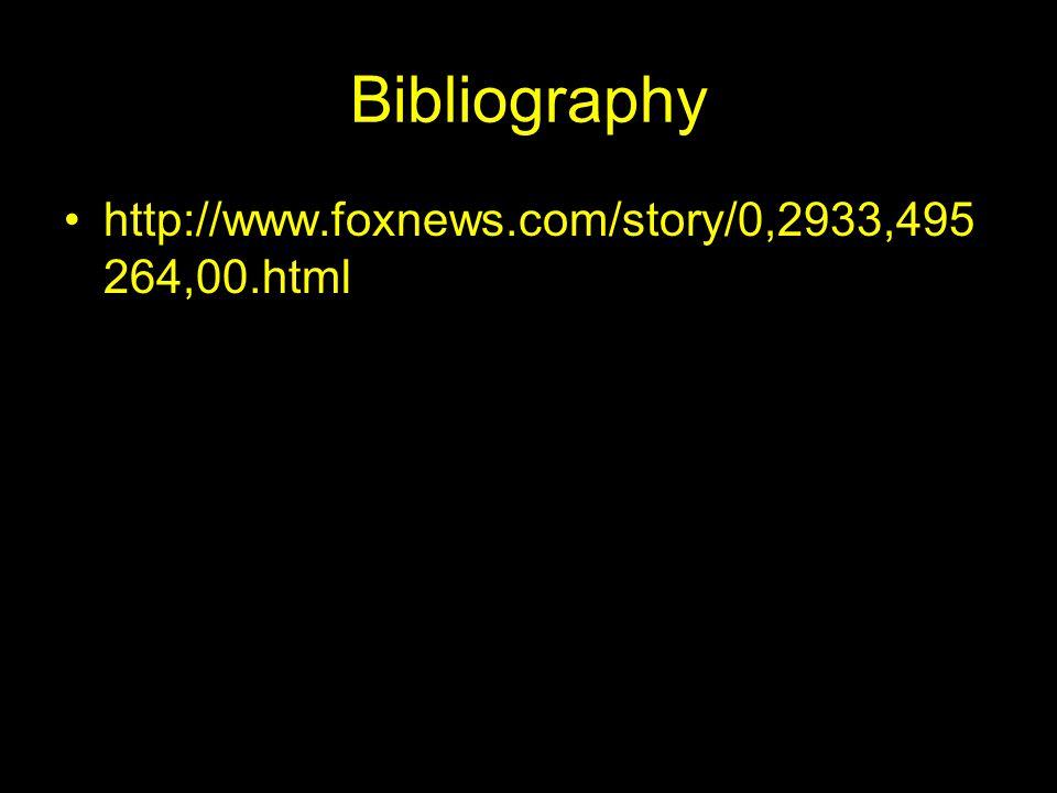 Bibliography http://www.foxnews.com/story/0,2933,495 264,00.html