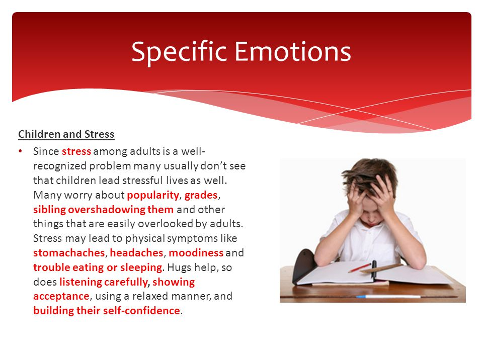 Children and Stress Since stress among adults is a well- recognized problem many usually don't see that children lead stressful lives as well. Many wo