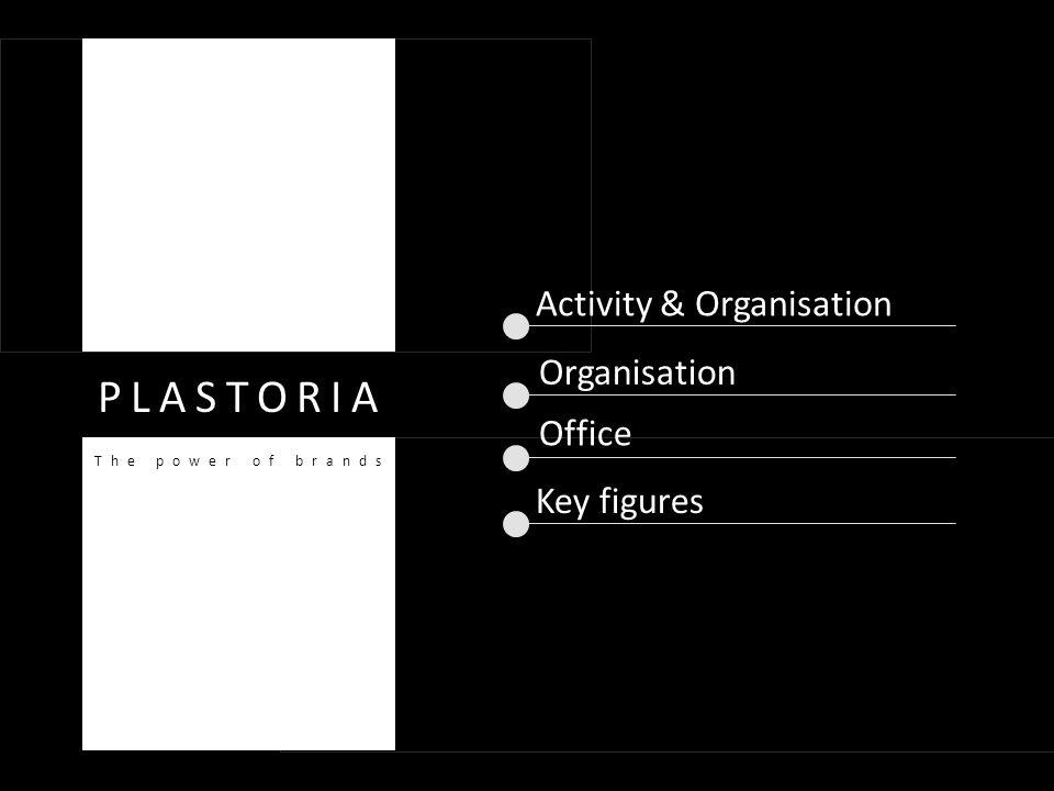 Activity & Organisation Organisation Key figures PLASTORIA The power of brands Office