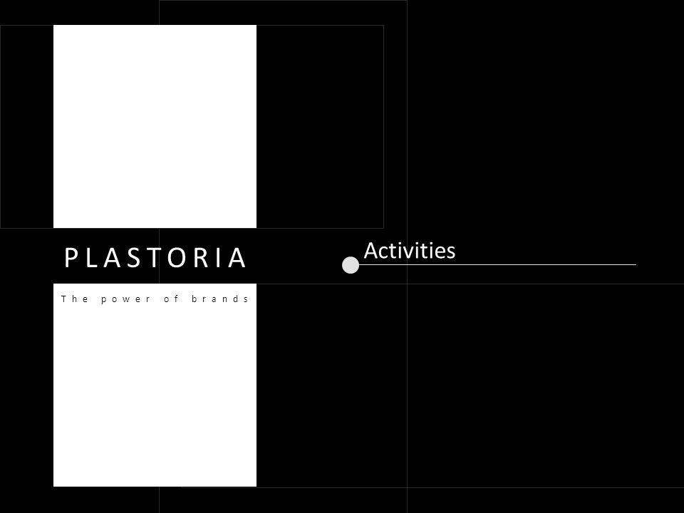 Activities PLASTORIA The power of brands