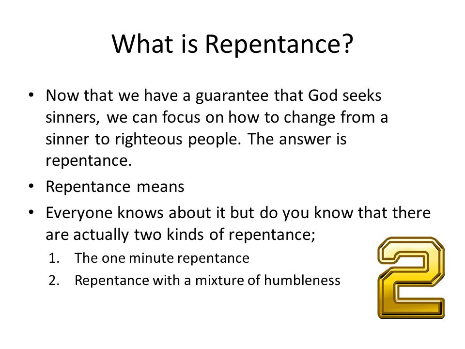 What is Repentance.