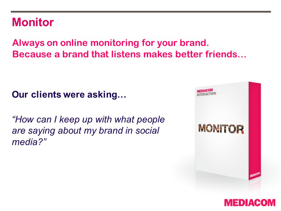 * All reports are bespoke and custom to the clients objectives Post Monitoring Report Post Monitoring Report Live Monitoring Report Live Monitoring Report Social Media Monitoring