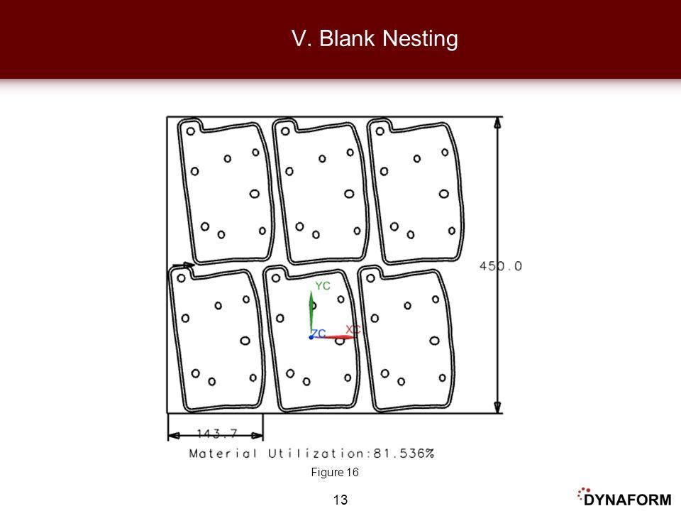 13 V. Blank Nesting Figure 16