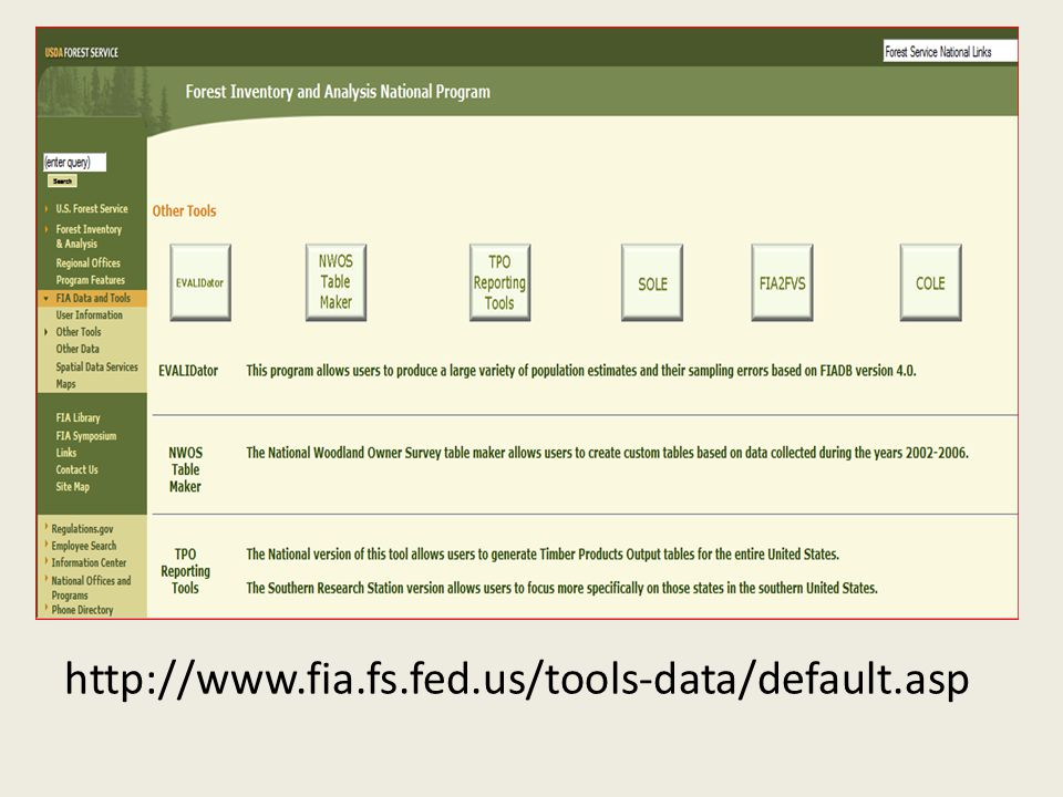 http://www.fia.fs.fed.us/tools-data/default.asp