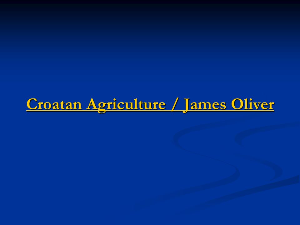 Croatan Agriculture / James Oliver Croatan Agriculture / James Oliver