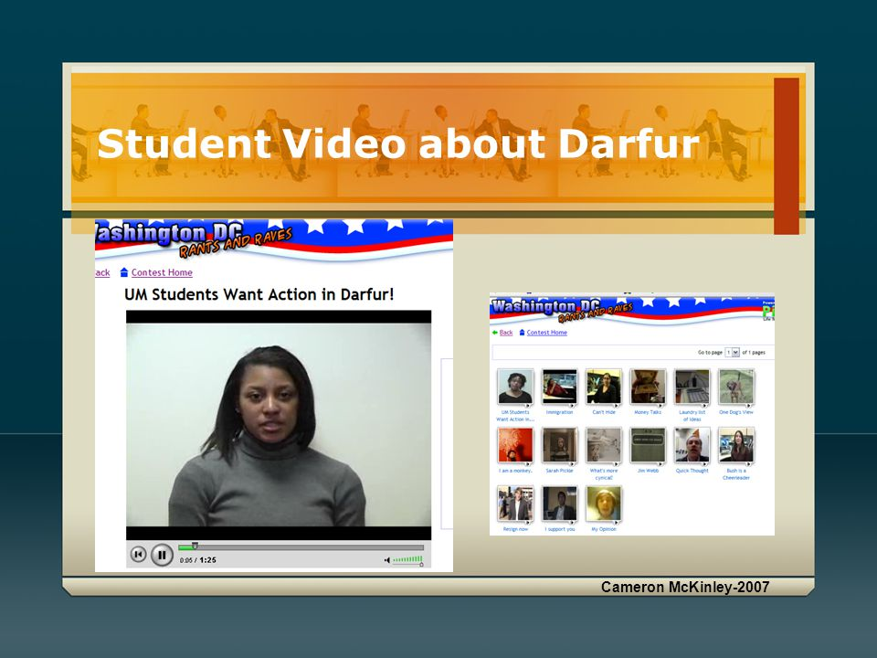 Student Video about Darfur