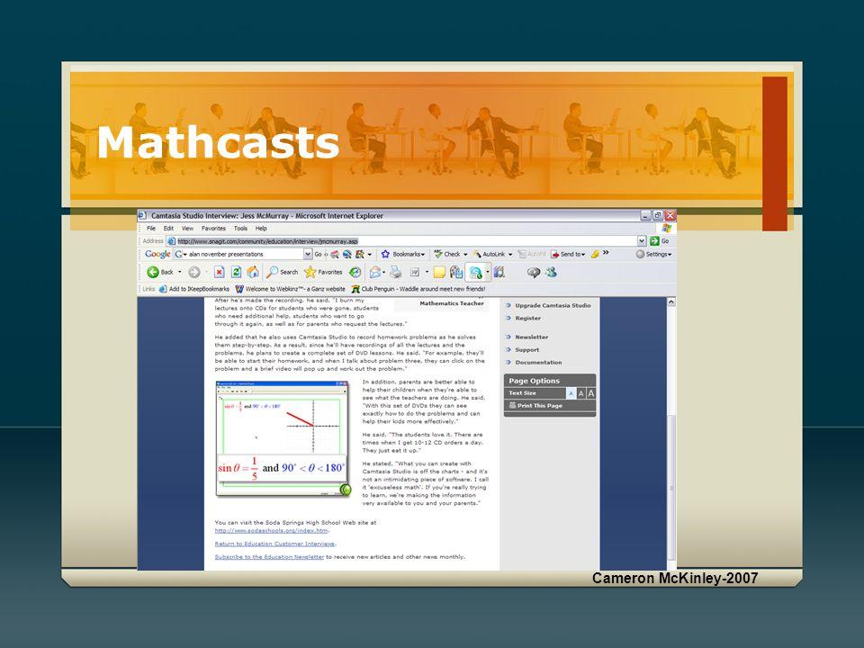 Cameron McKinley-2007 Mathcasts