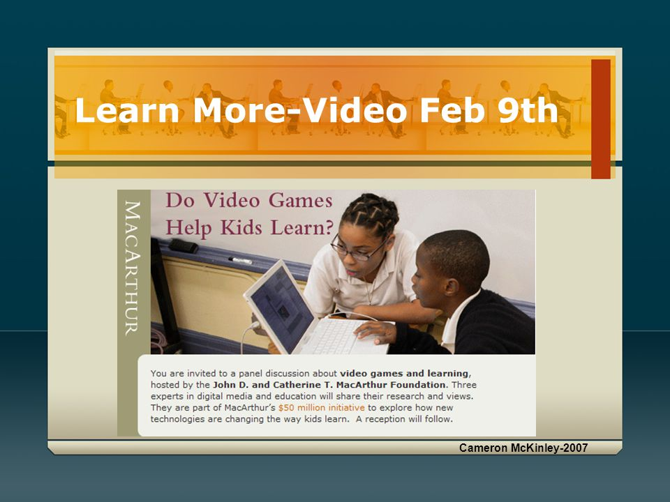 Learn More-Video Feb 9th