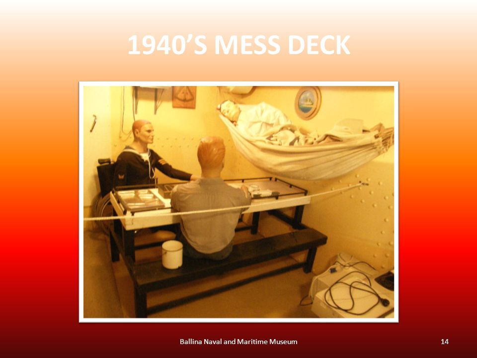 1940'S MESS DECK Ballina Naval and Maritime Museum14