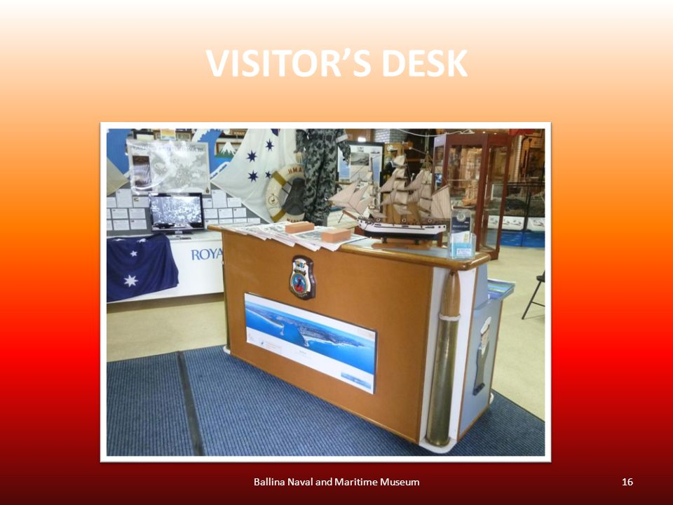 VISITOR'S DESK Ballina Naval and Maritime Museum16