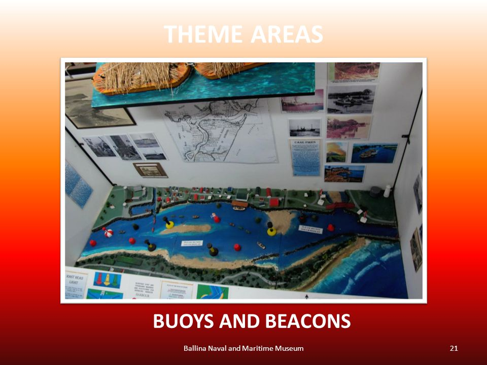 THEME AREAS Ballina Naval and Maritime Museum21 BUOYS AND BEACONS