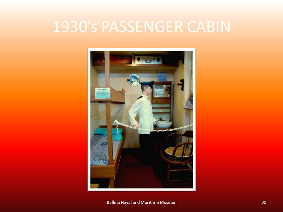 1930's PASSENGER CABIN Ballina Naval and Maritime Museum30