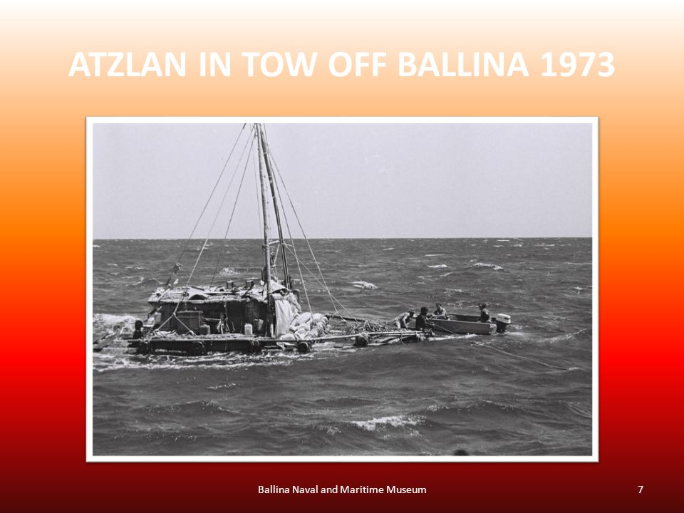 ATZLAN IN TOW OFF BALLINA 1973 Ballina Naval and Maritime Museum7