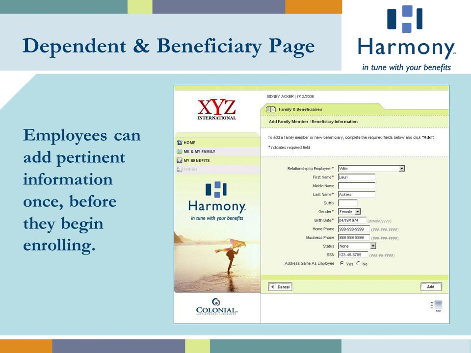 Benefits Menu Employees can enroll in all of their benefits-group health to voluntary-in one convenient location.