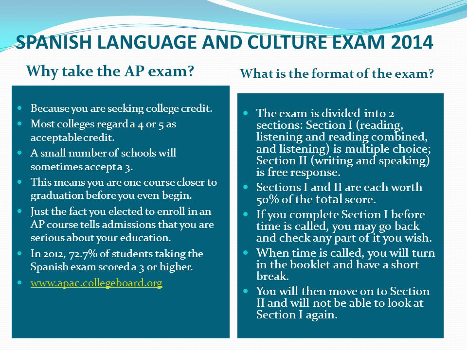 SPANISH LANGUAGE AND CULTURE EXAM 2014 How is my multiple choice scored.