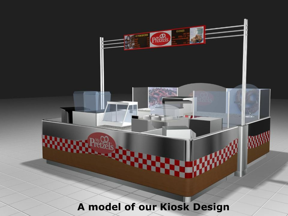 A model of our Kiosk Design