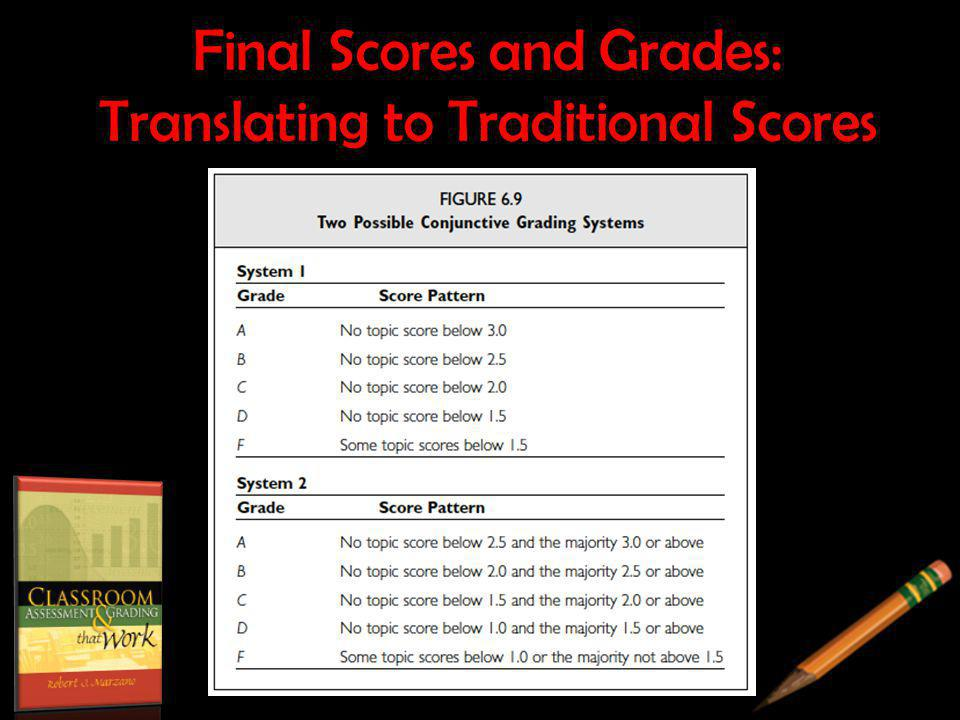 Final Scores and Grades: Translating to Traditional Scores