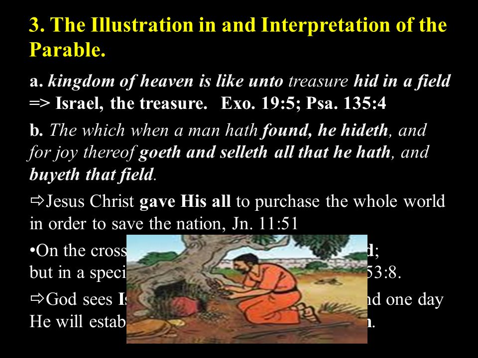 3.The Illustration in and Interpretation of the Parable.