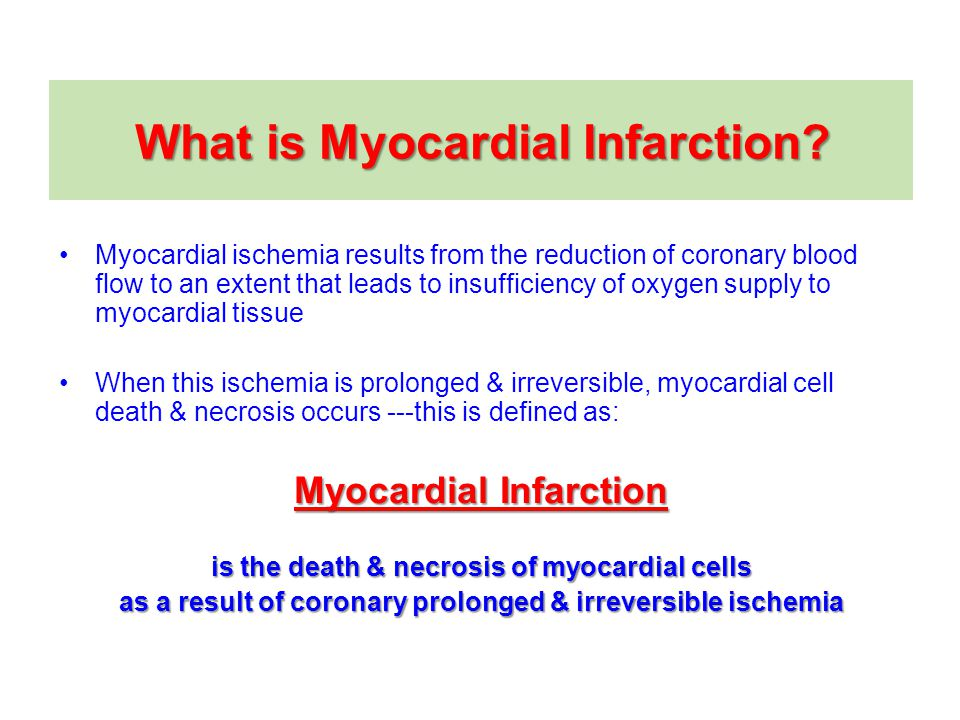 What is Myocardial Infarction.