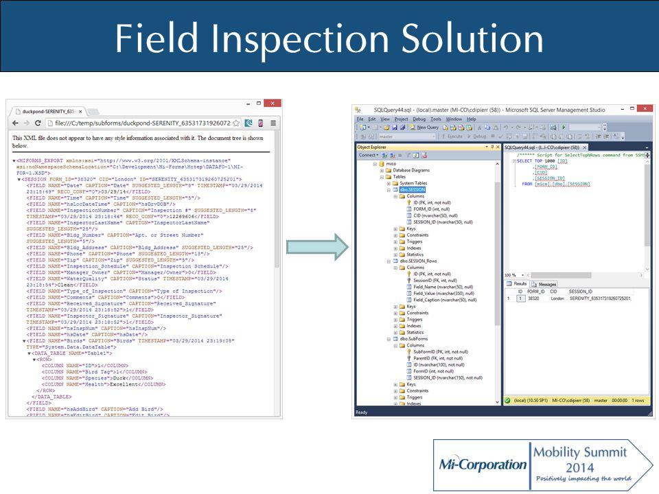 © Mi-Co, 2012 Field Inspection Solution