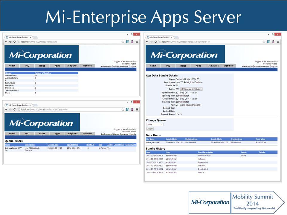 © Mi-Co, 2012 Mi-Enterprise Apps Server