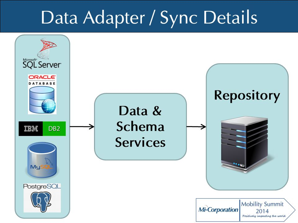 © Mi-Co, 2012 Data Adapter / Sync Details Repository Data & Schema Services