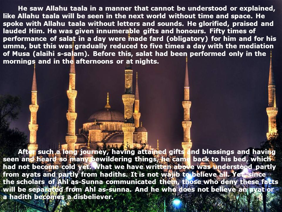 He saw Allahu taala in a manner that cannot be understood or explained, like Allahu taala will be seen in the next world without time and space. He sp