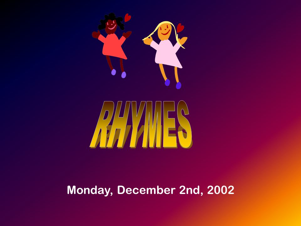 Monday, December 2nd, 2002