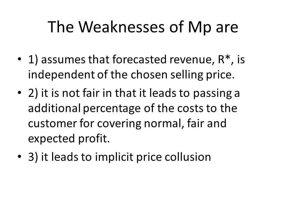 Remember the Markup on Price, Mp?
