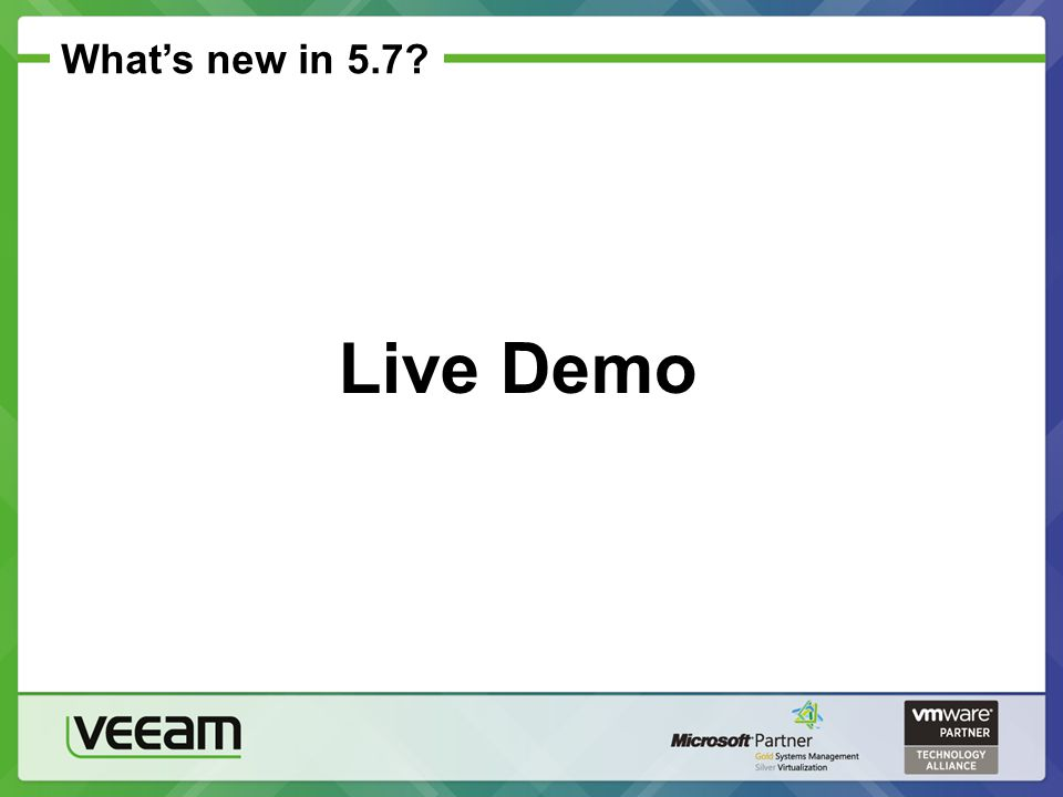 What's new in 5.7? Live Demo