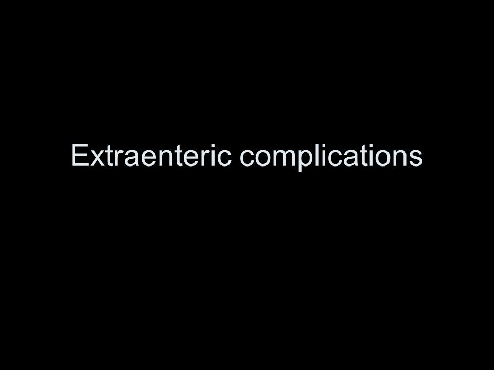 Extraenteric complications