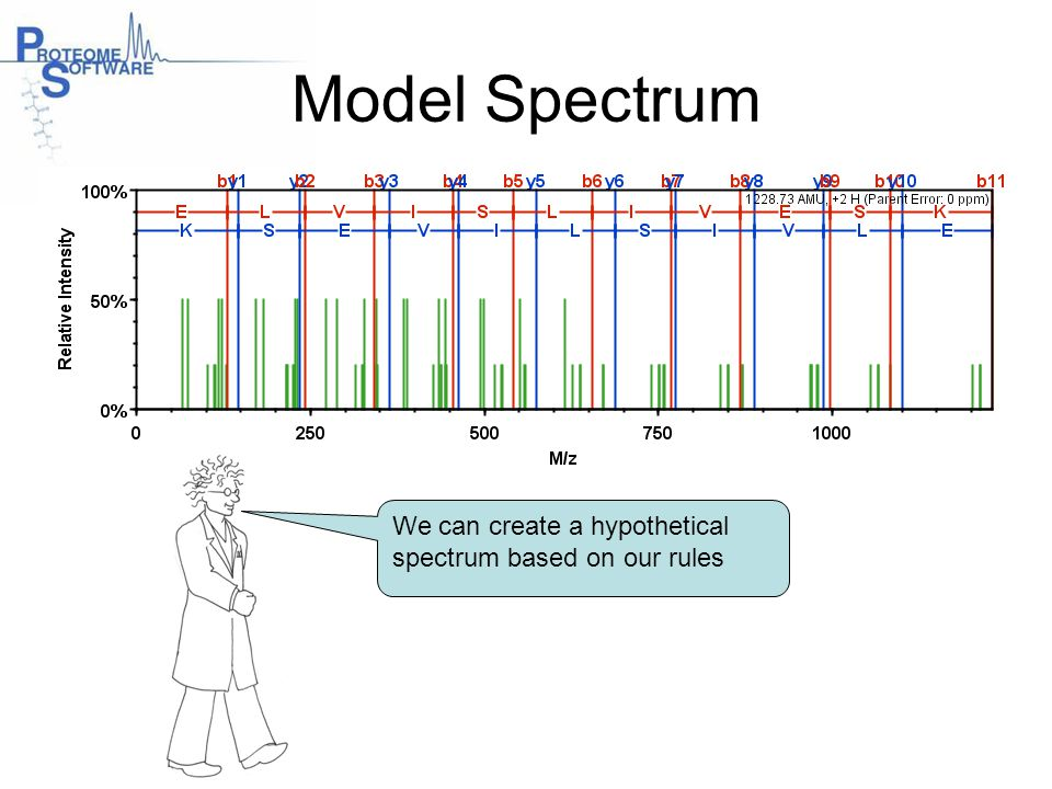 Model Spectrum We can create a hypothetical spectrum based on our rules