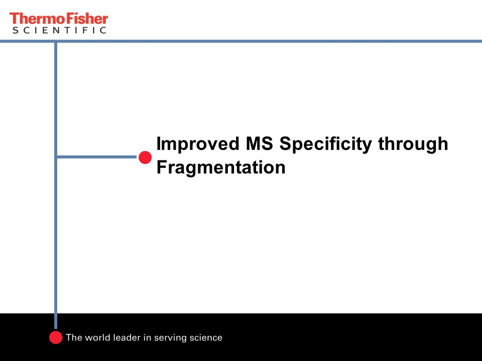 Improved MS Specificity through Fragmentation